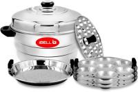 iBELL IP21P3SM High Food Grade Idly Pot Stainless Steel, Idli Pot with Steamer & Mini Idli Plate, 3 Idli Plates (21 Idlyes) Induction & Standard Idli Maker(3 Plates , 21 Idlis )