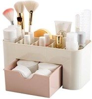 venskab Mini Makeup Multipurpose Storage Box Cosmetic Vanity Box(White)