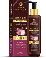 Khadi Organique Red Onion Hair Cleanser / Shampoo With Keratin Protein Booster (SLS & PARABEN FREE)(200 ml)
