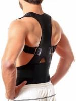 LakhanPal Magnetic Therapy Posture Corrector, Shoulder Back Support Belt for Men and Women Back & Abdomen Support(Black)