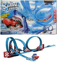 HALO NATION Shark Slot Car 360 Degree Curved Track Orbit Toy for Speed Car Adventure - Shark Track 3 Meter Slot(Blue)