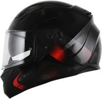 LS2 Velvet Black Red Dual visor Full Face Helmet Motorbike Helmet(Black, Red)
