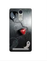 Casotec Heart Chein Design 3D Printed Hard Back Case Cover for Lenovo K5 Note