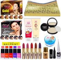 Skin Diva Art of Skin Care Diamond & Gold Facial Kit, With Beauty Product Set of 20 GCI804