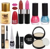 Color Diva Women Makeup Combo Set of 9, GC548