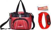 Good Friends Tiffin GF0024 Watch Waterproof Lunch Bag(Red, 3 L)