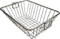 Bluwings Storage Basket Rack Especially For Keeping Dishes Utensil Kitchen Rack(Aluminium)