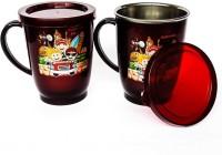 ABHYAASA Unbreakable,Insulated, Leakproof LID Coffee, Tea, Milks 225 ML Stainless Steel Mug(300 ml, Pack of 2)