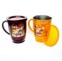 ABHYAASA set of 2 STEEL PLASTIC WITH TULIP Kids Coffee, Tea, Milks Stainless Steel Stainless Steel Mug(300 ml, Pack of 2)