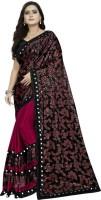 3SIX5 Printed, Embellished Fashion Lycra Blend Saree(Maroon)