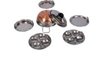 Krishna COPPER BOTTOM SMALL MULTI KADAI Standard Idli Maker(5 Plates , 4 Idlis )