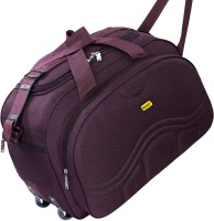 Bright Luggage Lightweight Purple Polyester 40L Luggage Travel Duffle Bag - BL61BP Duffel With Wheels (Strolley)