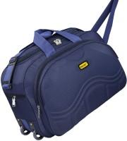 Bright Luggage Lightweight Blue Polyester 40L Luggage Travel Duffle Bag - BL61BLU Duffel With Wheels (Strolley)