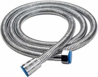 AEIOU Stainless Steel Flexible Shower Hose Pipe Tube (Chrome Finish) (1m) Shower Tube/Hose 1 Meter with rotating brass nuts Hose Pipe