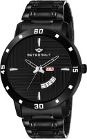 METRONAUT MT-GR907-BKB Black Ion Plated Black Dial Functioning Day and Date Black Ion Plated Stainless Steel Bracelet Premium Watch for Men/Boys Analog Watch  - For Men