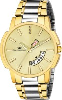METRONAUT MT-GR903-GLSG Original Two Tone Gold Ion Plated Gold Dial Day & Date Functioning Two Tone Gold Ion Plated Stainless Steel Bracelet Premium Watch for Men/Boys Analog Watch  - For Men