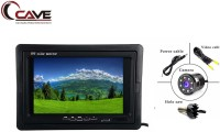 Cave Car, Bus & Truck 7-Inches TFT/LED Hi-Res Display Monitor Headrest Shroud And Stand 24-Watt With Car Rear View Reverse Parking Camera with HD Night Vision, Universal Fit Mutifunctional 8 LED 170° Degree Wide Angel Waterproof Night Vision HD Car Rear View Reverse Parking Camera Suitable for All C