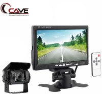 Cave Car, Bus & Truck 7-Inches TFT/LED Hi-Res Display Monitor Headrest Shroud And Stand 24-Watt With IR Night Vision Back Up Camera Parking Assistance System for RV Truck Trailer Bus Camper Motorhome Black LED(18 cm)