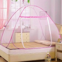 Sasimo Polyester Adults Net Foldable King Size (Double Bed)___1 Mosquito Net(pink ,white)