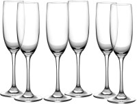 VENTUOS (Pack of 6) (Pack of 6) Bar Fancy Drinking Wine Glass, Red or White Wine, Champagne Flutes, Crystal Glass Set (165 ml, Glass) Glass Set(165 ml, Glass)