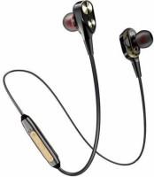 techobucks Dual Speaker 4D Deep Bass Stereo Wireless Earphone Op_po vi.vo Bluetooth Headset with Mic(MULTICOLOR, In the Ear)