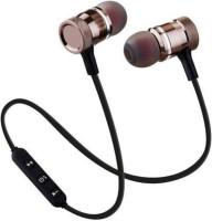 techobucks 4D Deep Bass Stereo Wireless Earphone Bluetooth Headset Bluetooth Headset with Mic(black, In the Ear)