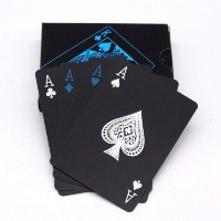 SHUANGYOU Unique Plastic Waterproof Colorful Deck Poker Playing Card(Balck)