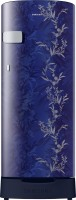 SAMSUNG 192 L Direct Cool Single Door 2 Star Refrigerator with Base Drawer(Mystic Overlay Blue, RR19T2Z2B6U/NL)