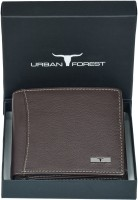 Urban Forest Men Brown Genuine Leather Wallet(6 Card Slots)