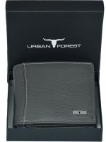 Urban Forest Men Grey Genuine Leather Wallet(6 Card Slots)