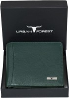 Urban Forest Men Green Genuine Leather Wallet(6 Card Slots)