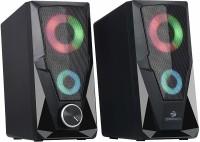 Zebronics Zeb-Warrior 2.0 Multimedia Speaker with Aux Connectivity & USB Powered 3 W Laptop/Desktop Speaker(Black, 2.0 Channel)