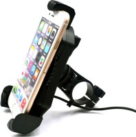 VIDZA New Black 360 Rotation Universal Bike Motorcycle Cycle Bicycle Mount Holder for Phone Mobile Handlebar Mobile Phone Holder Cradle Clamp for 3.5 to 6.5 inch Bike Mobile Holder(Black)