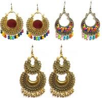 PRASUB brings you Combo pack of 3 pair Trendy Multicolor Peacock designer earrings for girls and women Alloy, Sterling Silver Drops & Danglers, Chandbali Earring, Jhumki Earring
