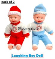 Shopme Store Happy Baby Musical Touch Sensors and Laughing Boy Doll for Kids Girls Boys (New Version 2020) (PACK OF 2 Small size)(Multicolor)