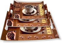U.P.C. Melamine Coffee, Breakfast & Dinner Serving Printed Tray, (Small, Medium and Large Size) Ocean Series Tray(3 Tray)