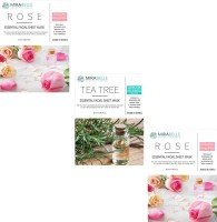 Mirabelle Cosmetics Korea 2 ROSE 1 TEA TREE PACK OF 3 25 ml