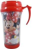Crafts For You SKI Micky Mouse Insulated Plastic Coffee, Juice Milk & Water Travel Mug 250 ml Shaker(Pack of 1, Red, Plastic)