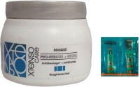 L 'Oreal Paris Xtenso Care ( Pro-Keratin+Incell) MASQUE (490G )For Straightened hair With Hair Spa Sachet 100% Original(2 Items in the set)