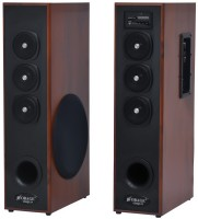 Obage DT-2605 Dual Tower Speakers with Bluetooth,FM and USB 100 W Bluetooth Tower Speaker(Brown, 2.0 Channel)