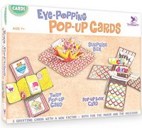 ToyKraft Paper Craft Kits - Eye-Popping Pop-Up Cards - Make 3 Greeting Cards with a Wow Factor - for 7 year-olds and above