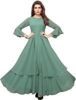 Apparel Fort Women's Georgette Fabric Long Anarkali Gown