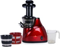 BMS Lifestyle juicer Slow Masticating Juicer Makes Continuous Fresh Fruit and Vegetable Juice at 43 Revolutions per Minute Features Compact Design Automatic Pulp Ejection 150 Juicer(Red, 3 Jars)