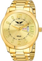 Lois Caron LCS-8404 ORIGINAL GOLD PLATED DAY & DATE FUNCTIONING Analog Watch  - For Men