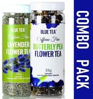 Blue Tea Butterfly Pea Flower- CERTIFIED ORGANIC-25g & Lavender- 30g - Combo Pack Lavender Herbal Tea Plastic Bottle(55 g)