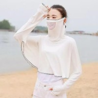 1Pack White Summer Outdoor Ice Silk Face Mask Sunscreen Clothing Ladies Ultra-Thin Quick-Drying