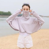 1Pack Gray Summer Outdoor Ice Silk Face Mask Sunscreen Clothing Ladies Ultra-Thin Quick-Drying
