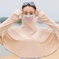 1Pack Apricot Summer Outdoor Ice Silk Face Mask Sunscreen Clothing Ladies Ultra-Thin Quick-Drying