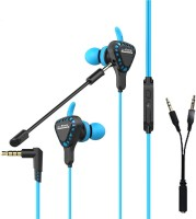 RPM Euro Games Gaming Earphone Headphone With Mic Wired Headset with Mic(Blue, Black, In the Ear)
