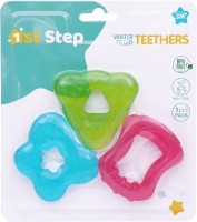 1st Step 3Pcs Pack BPA Free Water Filled Multicolored Teether Teether(Blue)